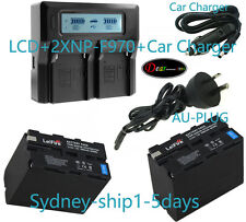 Quick LCD Charger +2x 7900mAh Battery for Sony NP-F970 F770 CCD-TR TRV Camcorder