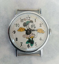 Vintage 1971 MINNIE MOUSE with GREEN Shoes Walt Disney Productions Watch
