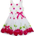 Robe Fille Rouge Pomme Vert Laisser Imprimer Satin Arc Attacher 2-6 ans