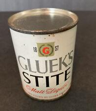 Gluek's Stite Flat Top Beer Can 8oz - Gluek Minneapolis, Minn - Bottom Opened
