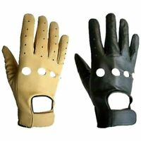 Motorcycle Gloves Leather Grade Riding Bike Racing Protective Armor Size XS-5XL