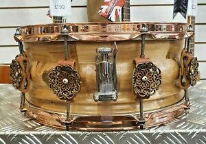 """Serenity Drums 14x5.5"""" Snare Drum - Hand Sculpted in the UK with reclaimed wood"""