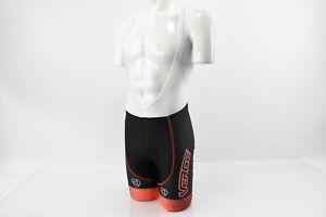 Verge Women's Small Core Bold Cycling Bib Shorts Black/Orange Brand New