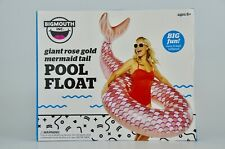 Big Mouth Toys giant rose gold shimmering mermaid tail pool float limited ed 6ft