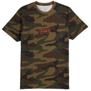 Brand New Mens Vans Easy Box T-Shirt Camouflage Spicy Orange Medium