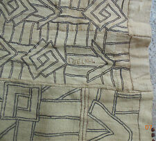 20 C Kuba Zaire Raffia embroidery Ceremonial skirt embroidered inscription 16'2""