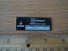 Renault Metal Display Plaque Model Diecast F1 1/18 1/43 1/24 R8 Gordini Alpine