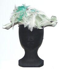 CHAPEAU taille unique CHERI BIBI de cérémonie femme vert blanc woman green hat