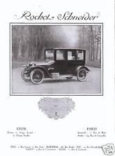 Publicité Ancienne  Voiture Rochel-Schneider 1919