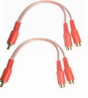 RCA Phono Y lead amplifier cable Y splitter 1 male to 2 female Connects2 CT35-2F