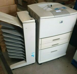 Used HP LaserJet 9050DN Q3723A Laser Printer w/ Extra Tray with side tray tower