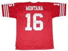 JOE MONTANA SIGNED AUTOGRAPHED SAN FRANCISCO 49ERS #16 MITCHELL & NESS JERSEY