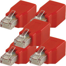 5x RJ45 CAT6 Crossover Adapter/Connector-Male to Female Ethernet End Converter