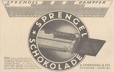 Y4001 SPRENGEL Schokolade - Pubblicità d'epoca - 1925 Old advertising