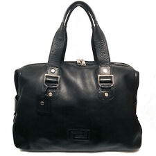 $2925 Verace Men's Black Leather Double Handle Travel Bag