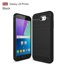 WOW For Samsung Galaxy J3 Prime SM-J327T/A/V 2017 Fiber Texture Slim TPU Case