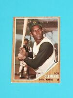 Roberto Clemente Pittsburgh Pirates 1962 Topps #10 EX Centered No Creases