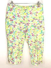 Liz Claiborne Liz Golf Tabitha Capris Pants Jeans Floral Spring Pastel Womens 14