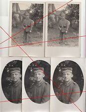 5 x Foto Ak Soldat Telegraphen Bataillon 7 Tschako Ausrüstung Portraits 1 Wk IWW