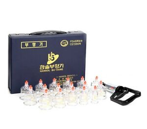 (Ship by DHL) Hansol Professional Cupping Therapy 17 Cups Set + Pumping