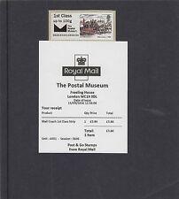 GB 2016  Post & Go Postal Museum Stagecoach single 1st class stamp unmount mint