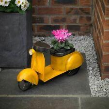 Craftsman NP6 Large Metal Moped Garden Flower Planter Indoors or Outdoors