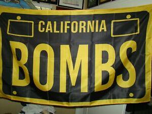 bombs flag 3x5 foot flag California bombs flag lowrider flag bomba flag 3x5 feet