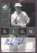 MICHAEL CLARK 2002 SP AUTHENTIC PGA GOLF ON CARD AUTOGRAPH AUTO MINT SP $12