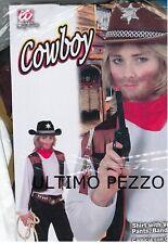 VESTITO CARNEVALE BIMBO COWBOY 8-10 ANNI