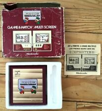 NINTENDO GAME & WATCH MULTI SCREEN MARIO BROS TOUCHES FRA COMPLET MW-56 CIB OVP