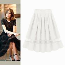 Fashion Women's Chiffon  Double Layer High-waist Skirt  Dress 104