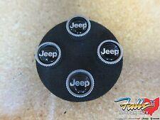 Mopar Jeep Silver and Black Tire Valve Stem Cap Covers With JEEP Logo Mopar OEM
