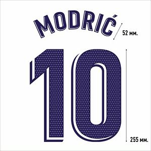 Modric 10. Real Madrid Home football shirt 2020 2021 FLEX NAMESET NAME SET
