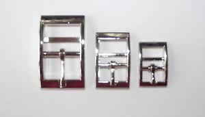 Silver Metal Pin Buckle Belts 15mm 20mm 25mm wide