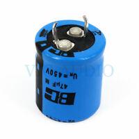 DIY Amplifier Accessories HIFI Capacitor VISHAY BC 450V 47UF LL Capacitance 2PCS