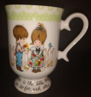"""LOVE IS..."" VINTAGE 1978 Petticoats & Pantaloons Roth Japan Pedestal Coffee Mug"