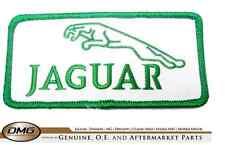 jaguar leaper cloth badge  green / white