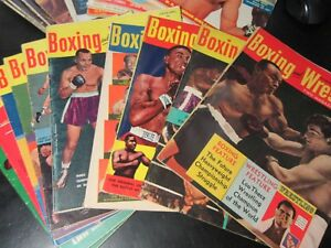 BOXING and WRESTLING US Magazine - Single Issues 1951-1958 & VG Cond