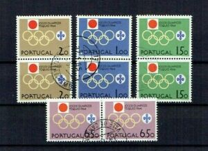 Portugal 1964 USED Pairs complete set #939-42 CTO Tokyo 1964 Olympic Games