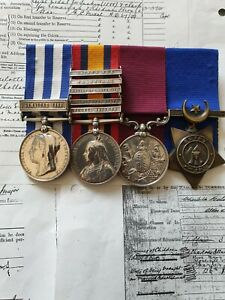 Egypt,QSA 5 Bar,LSGC Group Of 4 medals To Kings Own Scottish Borderers & West...