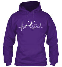German Shepherd Heartbeat Gildan Hoodie Sweatshirt