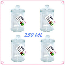 12 x Glass Apothecary Candy Jar (150ml) with Lid, for Candy & Candle Waxing