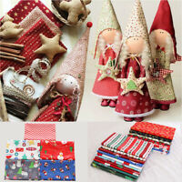 5/10X Christmas Cotton Fabric Square Sewing Patchwork Cloth Snowflakes Xmas DIY
