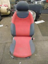 2005 BMW MINI OS DRIVERS SIDE RIGHT SEAT IN RED
