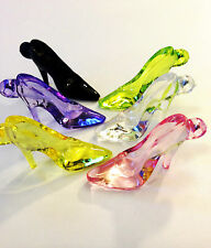 24 Acrylic High-heel Shoe Charms 38mm Cinderella Slipper Style Mix Of Colours