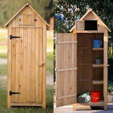 Fir Wood Arrow Shed With Single Door Wooden Garden Shed Wooden Locker Wood Color