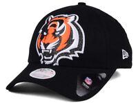 Women's Cincinnati Bengals New Era NFL Glitter Glam 9TWENTY Strapback Cap Hat