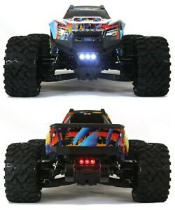 LED Lights Front And Rear Traxxas MAXX 1/10 4s waterproof by murat-rc