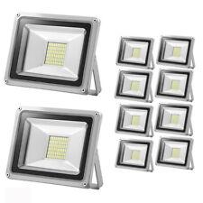 10X 30W Projecteur LED Extérieur Floodlight Jardin Éclairage Blanc Froid 12V