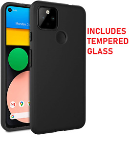 Case For Google Pixel 4A 5G Shockproof Gel Cover Rubber + Glass Screen Protector
